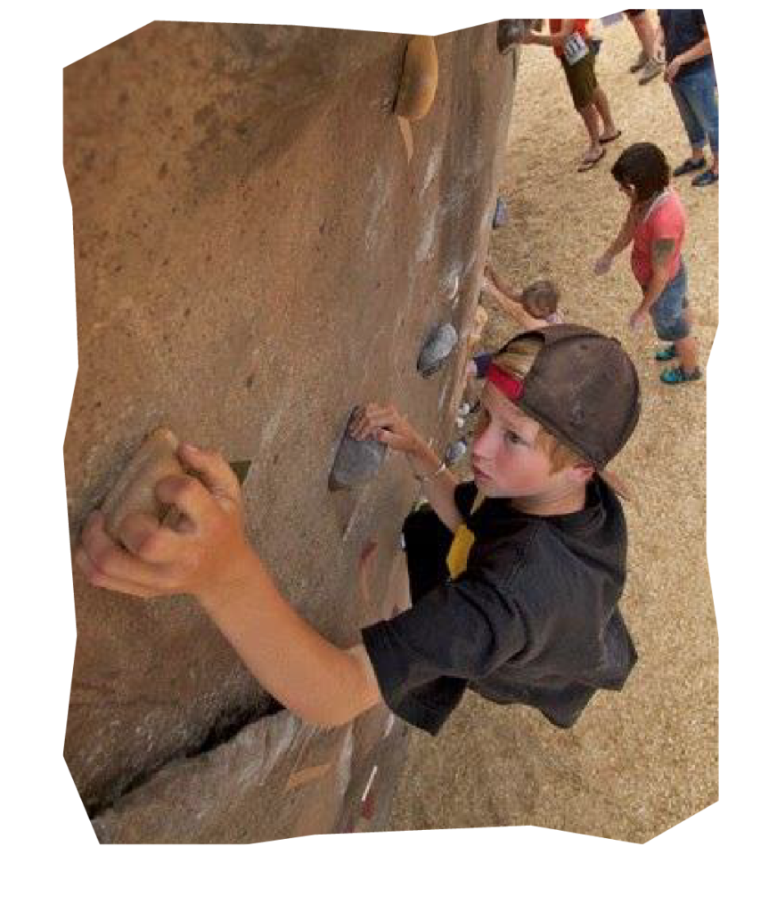 Young Climber on the boulder